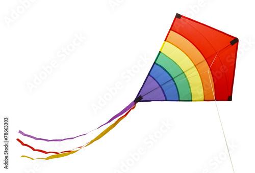 Fotografie, Obraz  Rainbow Kite