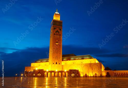 Foto  Hassan II Mosque in Casablanca, Morocco Africa