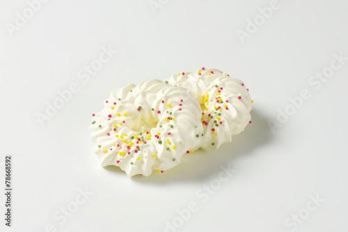 Meringue Wreath Cookies Buy This Stock Photo And Explore Similar