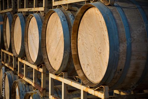 Fotografie, Obraz  Stack of wine barrels