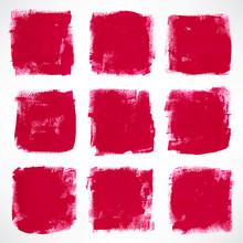 Grunge Pink Squares