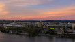 Time Lapse of Sunset Over Industrial Area in Portland Oregon