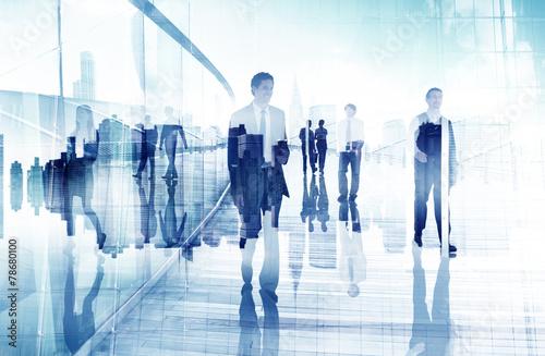 Fotografía  Business People Walking Professional Urban City Concept