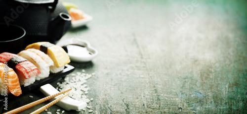Foto op Aluminium Sushi bar Closeup of fresh sushi
