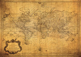 vintage mapa świata 1778 - 78686785
