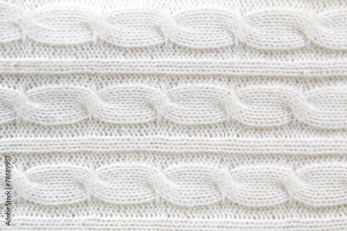 obraz PCV Biały sweter z wełny tle