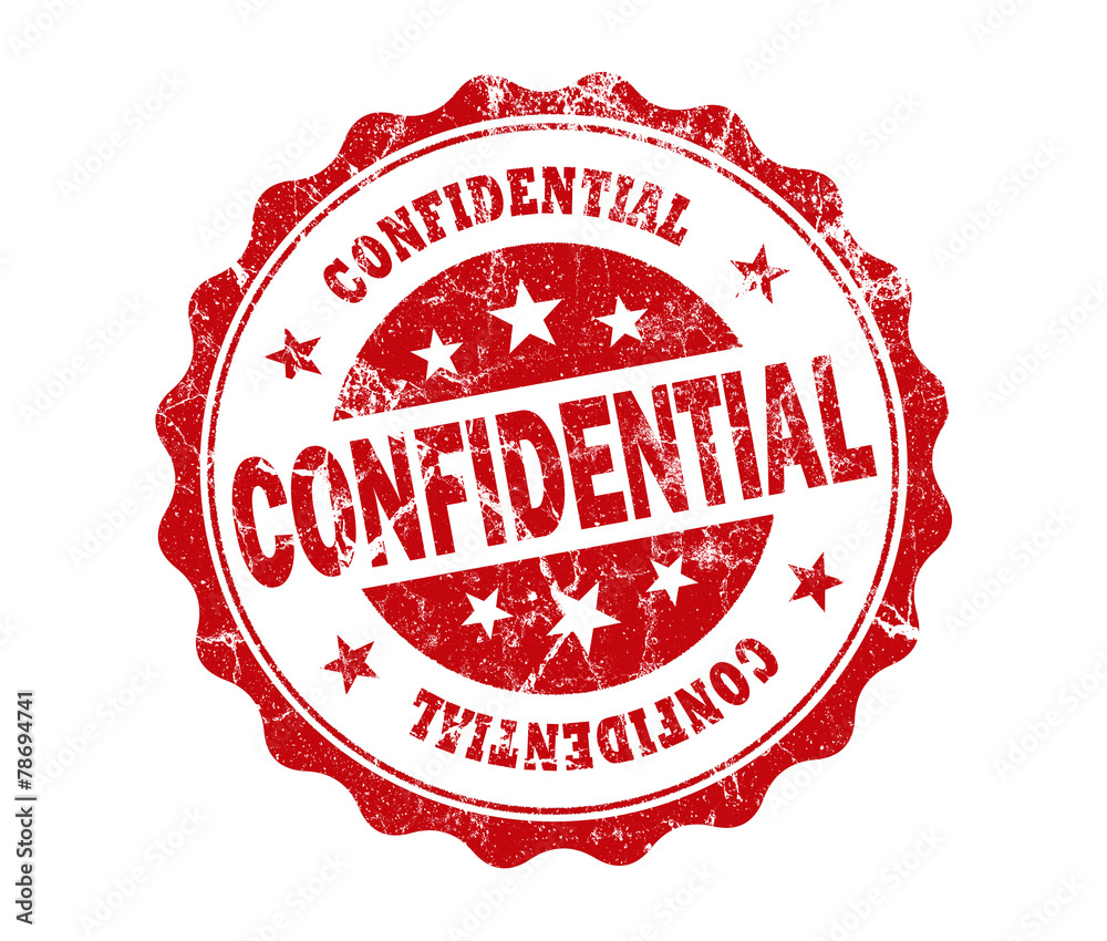 Fototapeta confidential stamp