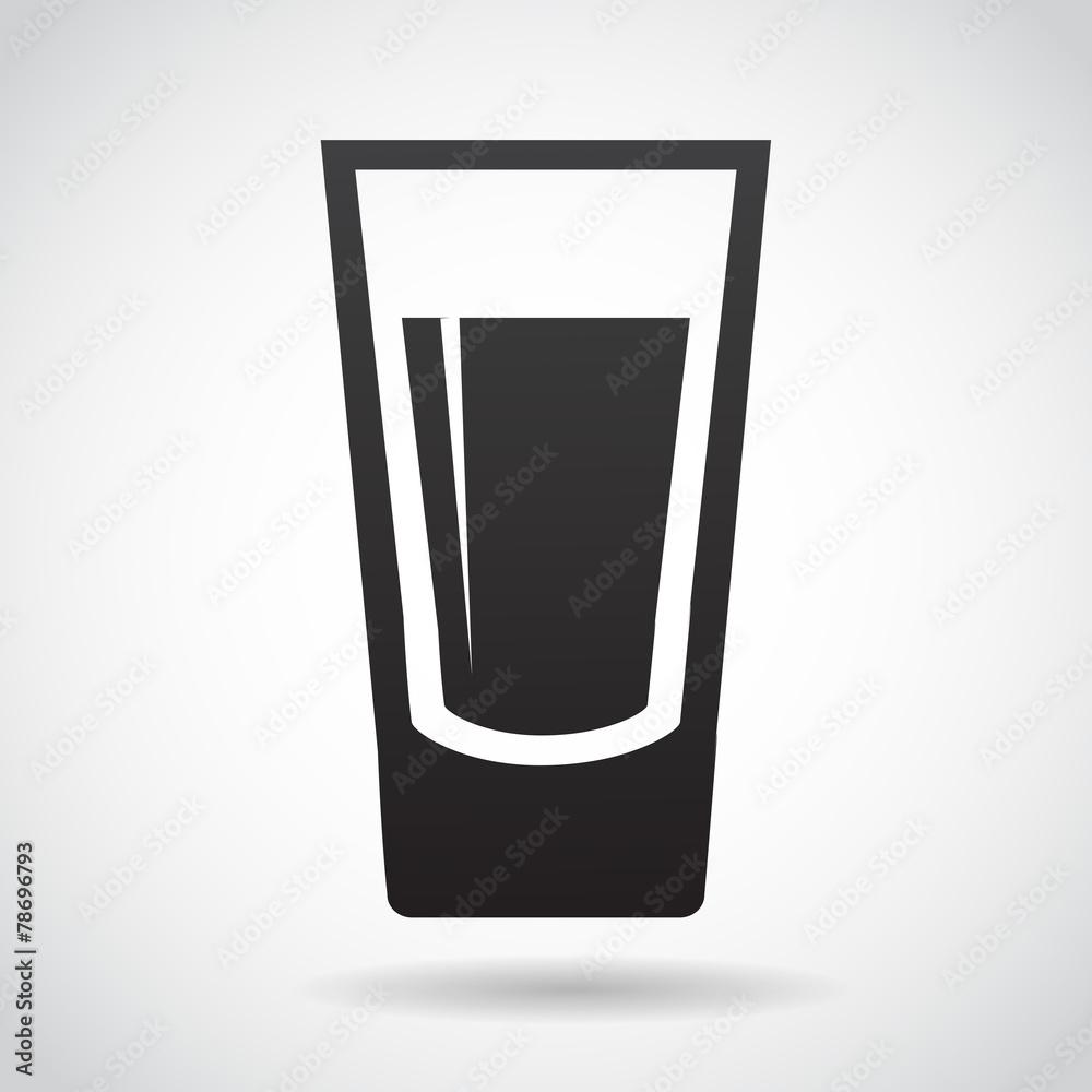 Fotografie, Obraz  Shot glass vector icon.