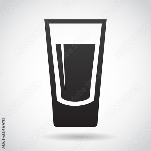 Fotografie, Obraz  Shot glass vector icon.