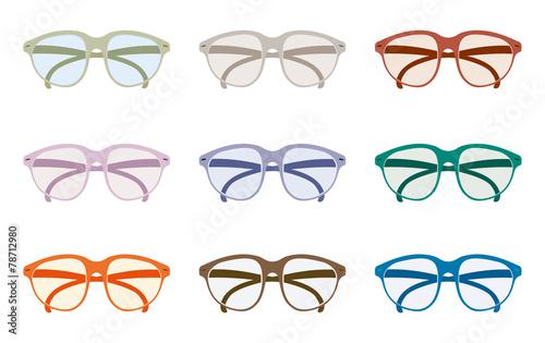 12 paia di occhiali Billede på lærred