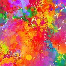 Abstract Colorful Splash & Wat...