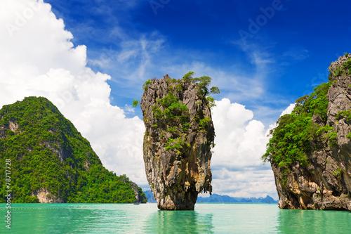 Aluminium Prints Blue James Bond Island, Phang Nga, Thailand