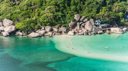 incredibly blue water at ko tao thailand