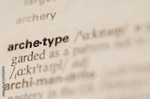 Dictionary definition of word archetype Canvas Print
