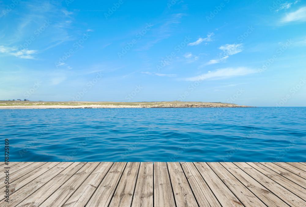 Fototapety, obrazy: Boardwalk and the ocean