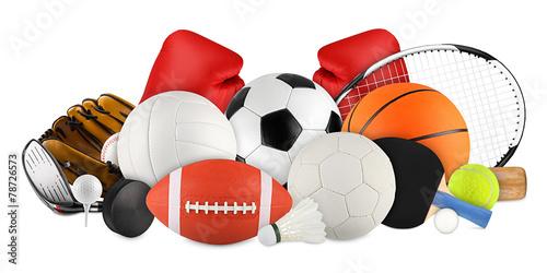 Fotografie, Obraz  Sportovní potřeby