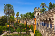 Real Alcazar Gardens In Sevill...