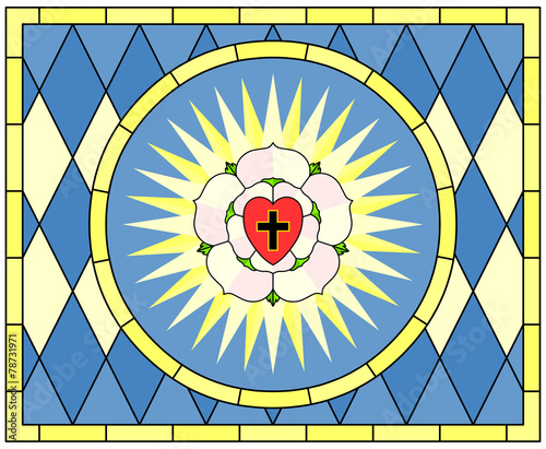 Luther Rose Christian Symbol Stained Glass Buy This Stock