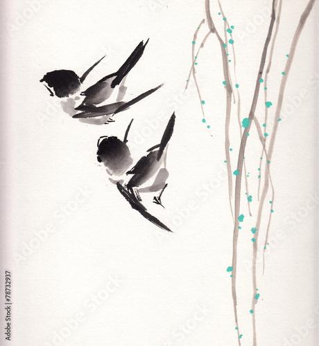 chinski-obraz-ptaka