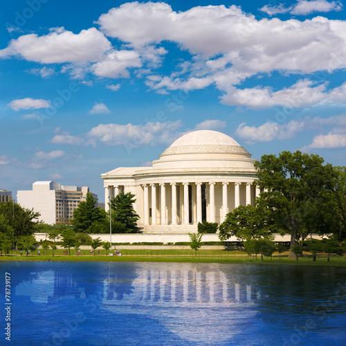 Fotobehang Kersenbloesem Thomas Jefferson memorial in Washington DC