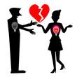 Heartbreak, Silhouette Illustration