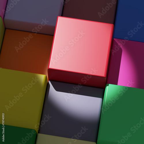 kolorowe kostki