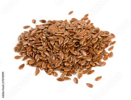 Obraz flax seed isolated on white - fototapety do salonu