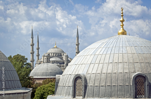 Photo  Dome everywhere in Istanbul, Turkey
