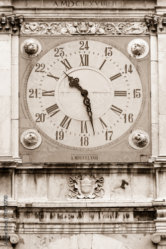 Poster Imagination Clock tower, City Hall of Modena, Italy