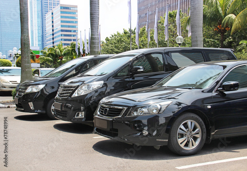 Photographie  parking cars business class
