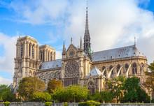 Notre Dame De Paris Cathedral,...