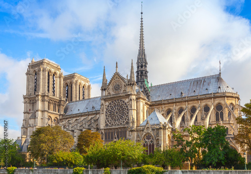 Canvas Print Notre Dame de Paris cathedral, France