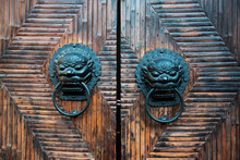 Tradtional Chinese Door With Knocker
