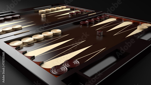 Fotografia, Obraz Backgammon Board