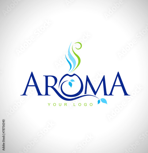 Tablou Canvas Aroma Therapy Logo Design. Aromatic oils design symbol