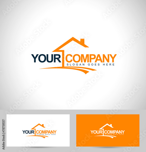 Fotografía  Real Estate Logo Design. House Logo Design