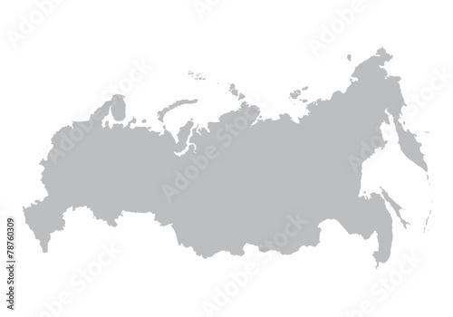 Obraz grey map of Russia - fototapety do salonu