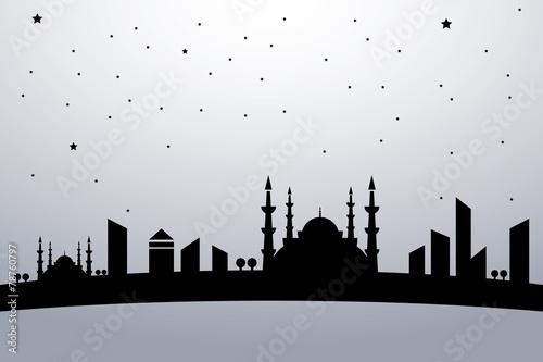 Staande foto India Vektör Şehir Manzara