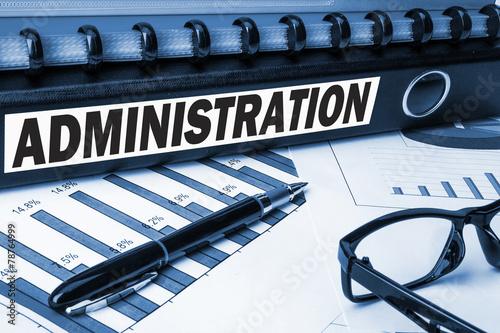 Fotografia  administration label on document folder