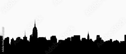Fototapeta New York City Skyline in Profile obraz