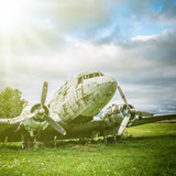 abandoned warplane