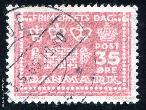 Fotografia  Denmark stamp