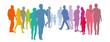 Menschengruppe - Paare in Pastellfarben