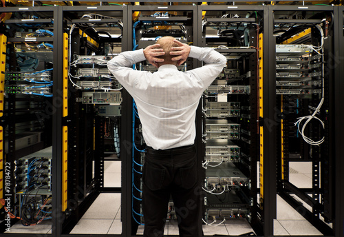 Fotografie, Obraz  Trouble in data center