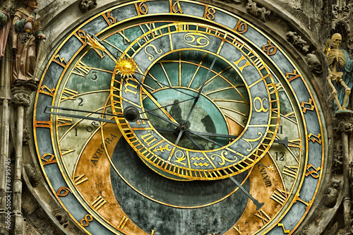 Staande foto Praag Astronomical clock in Prague
