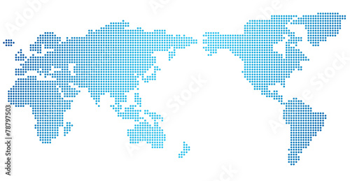 World map of dots Vector