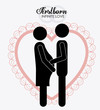 married, couple, design vector illustration.
