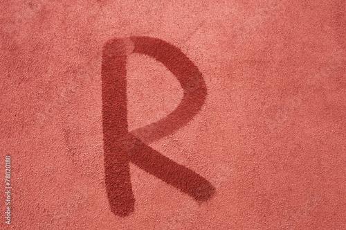 Photo  letter R