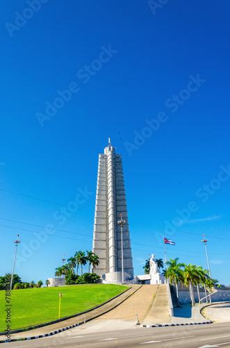 Memorial to Jose Marti a national hero, Havana, Cuba Canvas Print