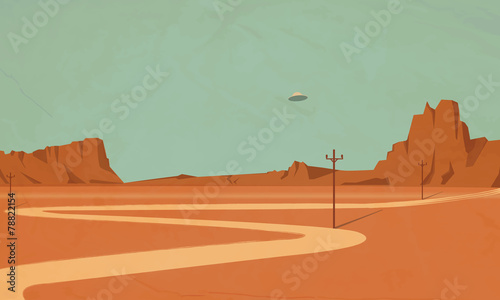Spoed Foto op Canvas Olijf ufo the Grand Canyon